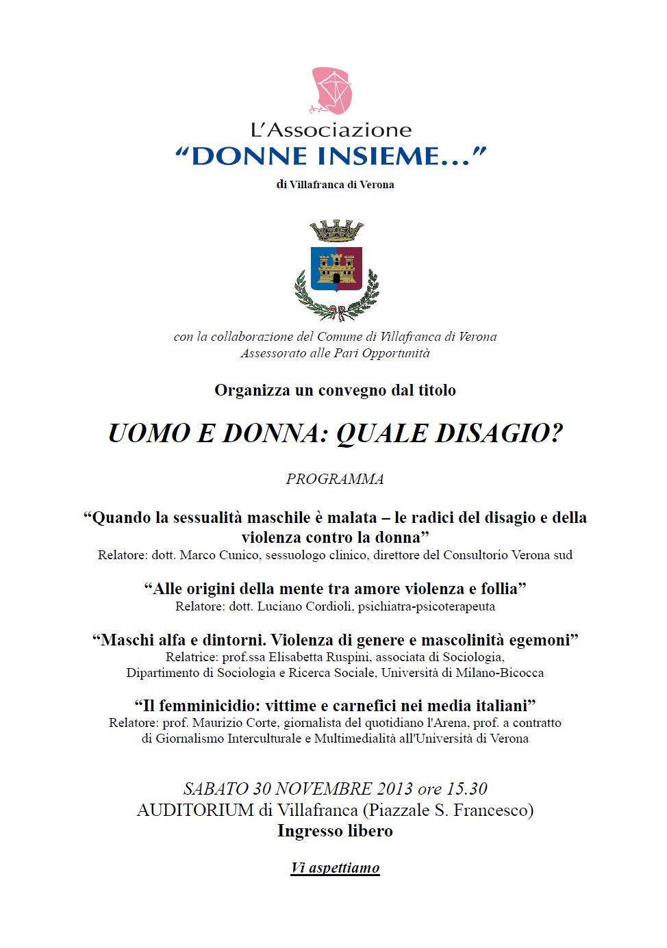 La locandina dell'evento a Villafranca, Verona