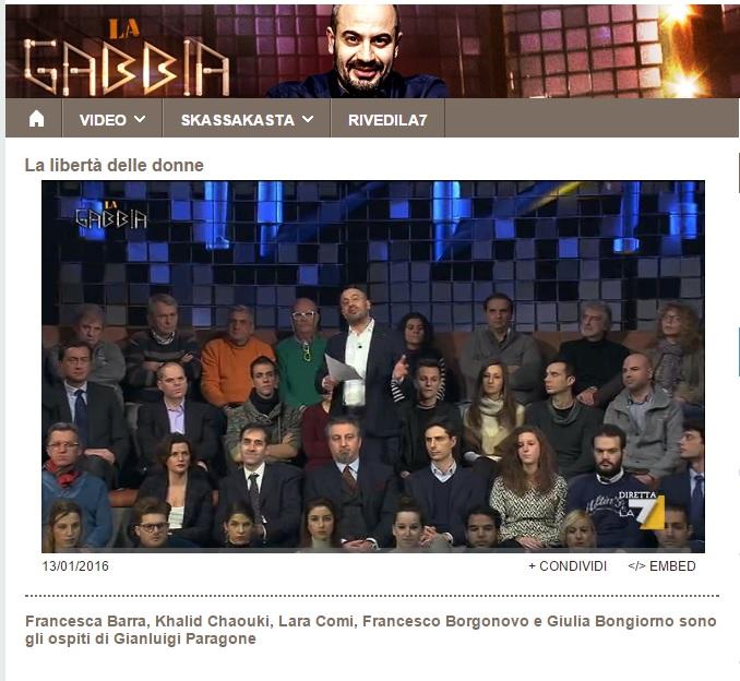 La Gabbia - 13.01.2016