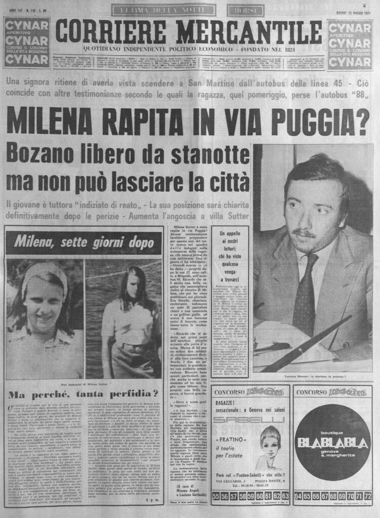 Lorenzo Bozano - Corriere Mercantile - 1971