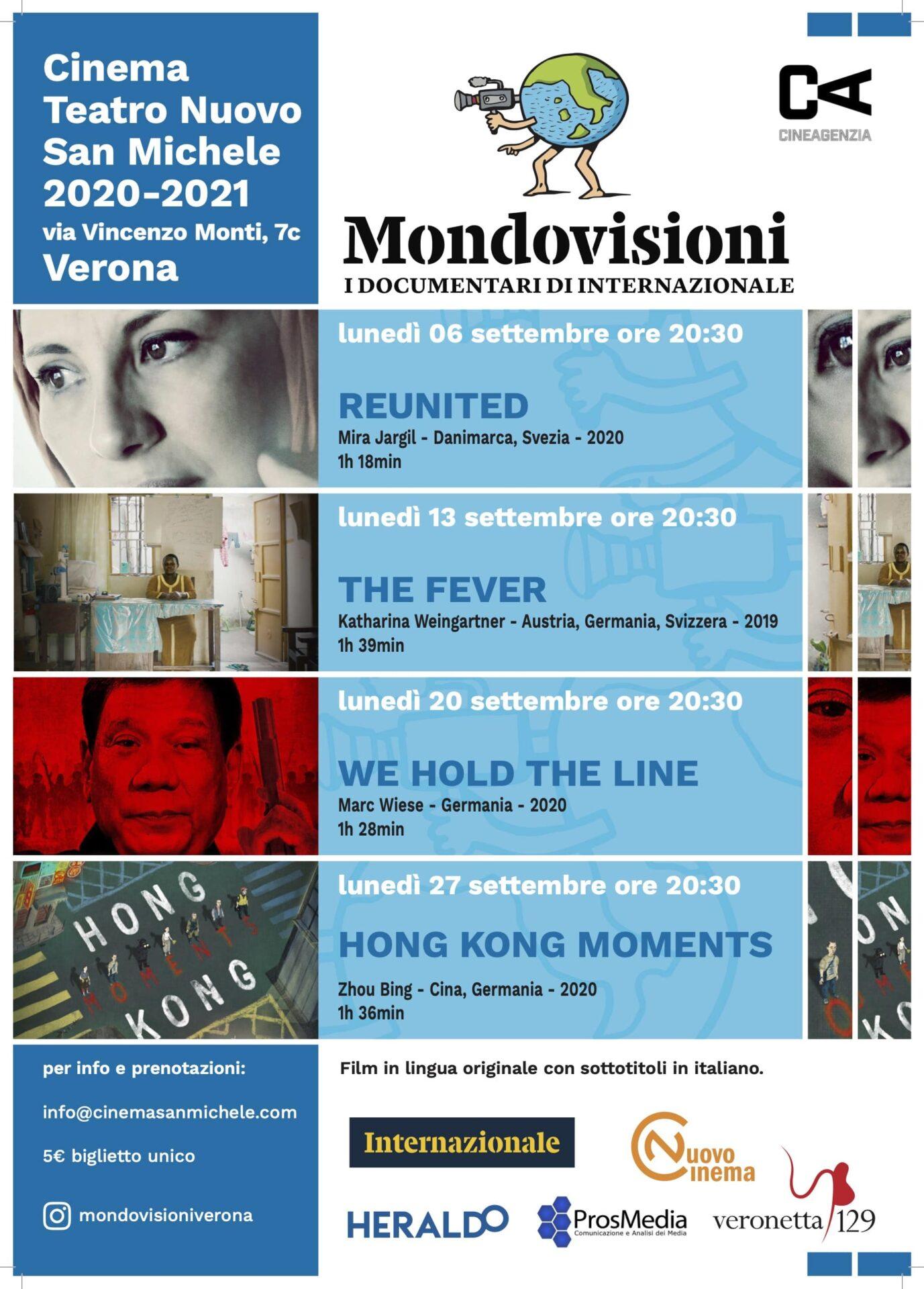 Locandina - 2020/2021 - Mondovisioni - Internazionale - Verona - 5 settembre - Prosmedia